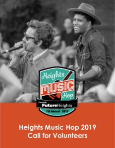 HEIGHTS MUSIC HOP 2019_CALL FORVOLUNTEERS
